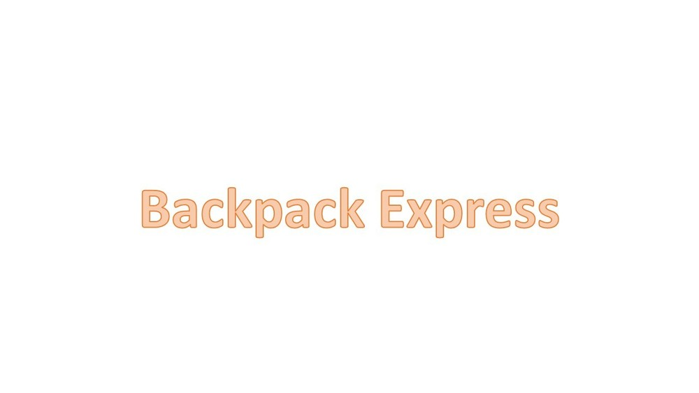 Backpack Express--September 11, 2019