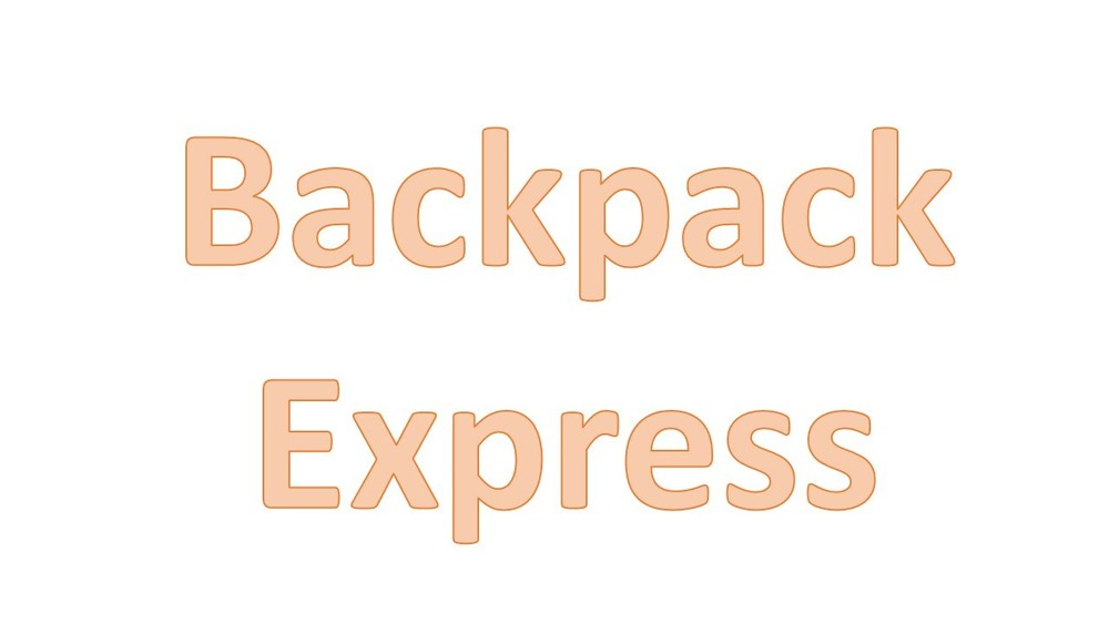 Backpack Express--October 30, 2019