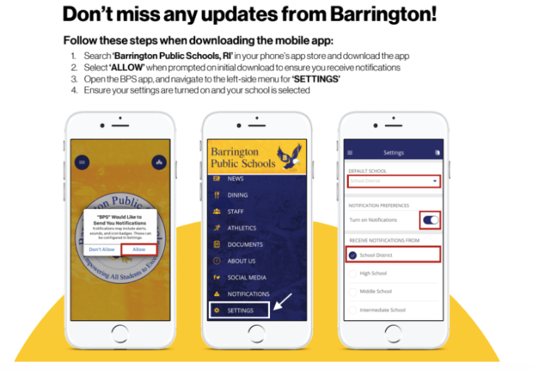 Image of Barrington's Website APP