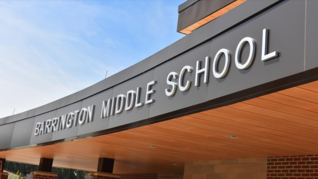 Front of Middle School