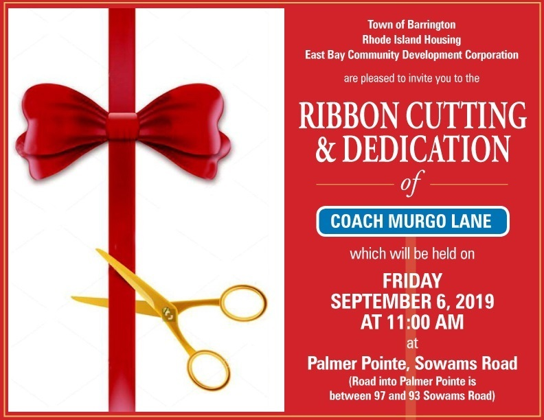 Invitation to Coach Murgo Lane Ribbon Cutting