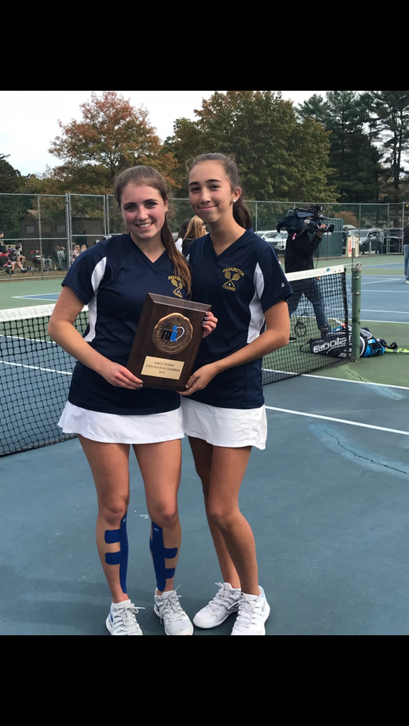 Lauren Jay and Sonya Pareek are the Girls' Tennis Doubles State Champions!! Congrats to them!